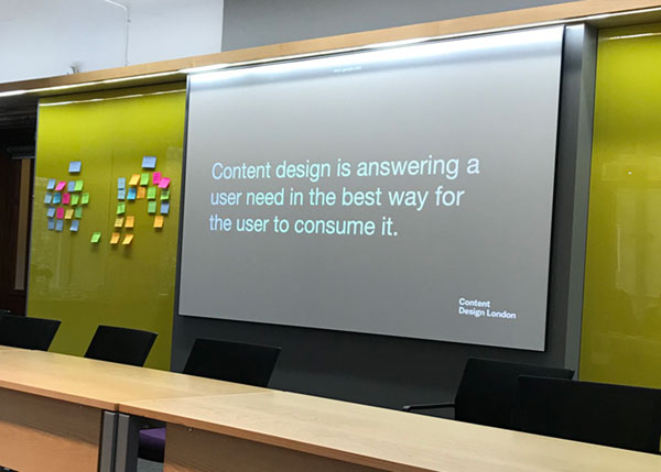 Key takeaways from content design training