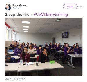 Tom Mason Training Tweet