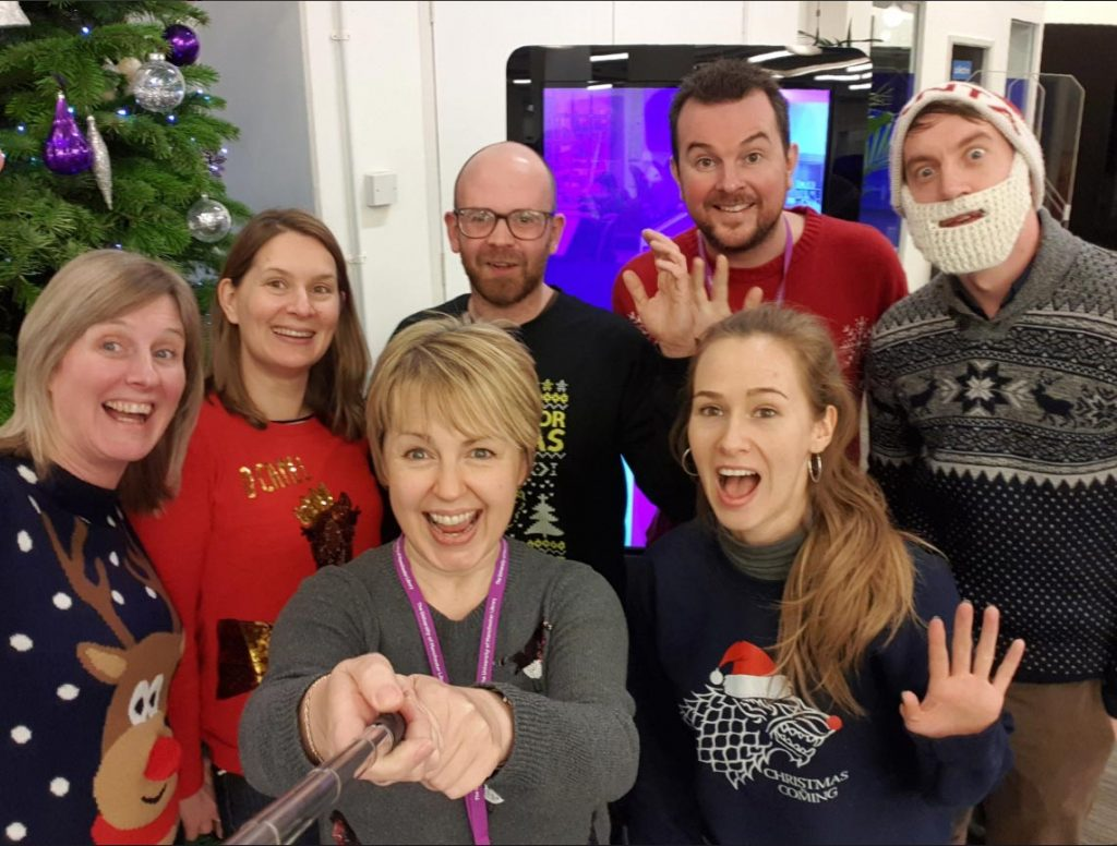 Library Marketing Team Xmas Selfie