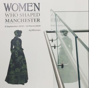 The Women Who Shaped Manchester vinyl promo at The John Rylands Library